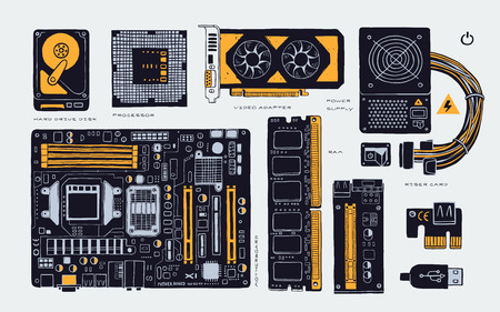 Computer accessories parts for cryptomining farm,