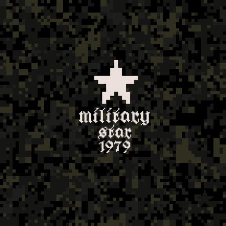 Dark camouflage pattern Иллюстрация