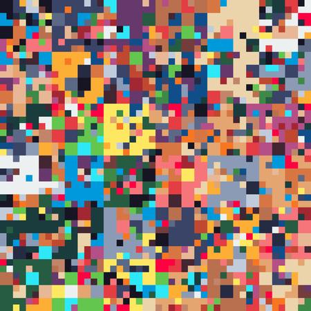 픽셀 아트 결함, 다채로운 기하학적 원활한 패턴, 추상적 인 배경, 일러스트