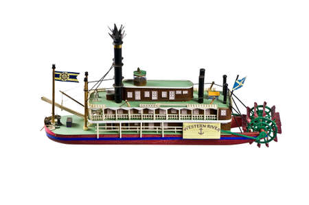 riverine: The model of the paddle-boat Western River Stock Photo