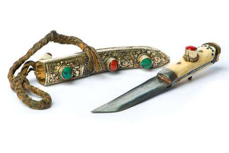 antiquary: Yakutia tibet retro knife, 19th century Stock Photo