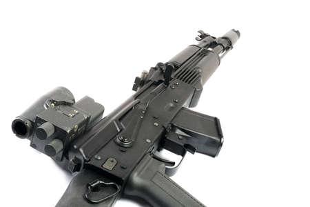 Optical sight and Saiga-M (Ak-47 mode) isolated