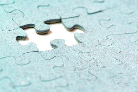 Missing puzzle piece. Business creativity, teamwork and solution concept. White background.