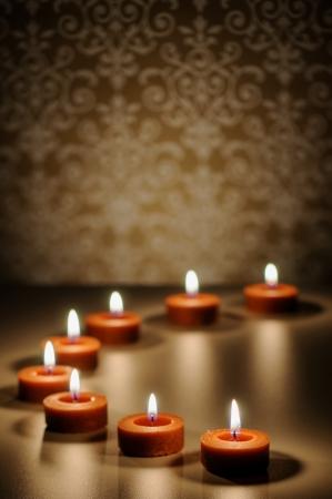 명상 촛불 추상