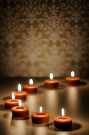 with reflection: Meditation Candle Abstract Stock Photo