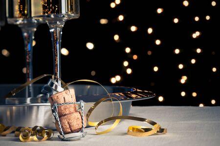 新年イブ シャンパン コルク