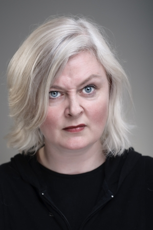frowning: Mature Caucasian Woman With Raised Eyebrows Stock Photo