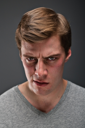 psychopath: A caucasian man in his 20 Stock Photo