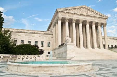 supreme court: The United States Supreme Court building in Washington DC.