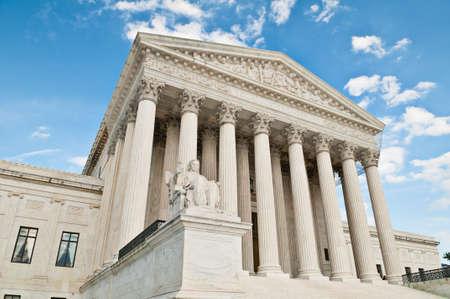 colonade: The United States Supreme Court building in Washington DC.