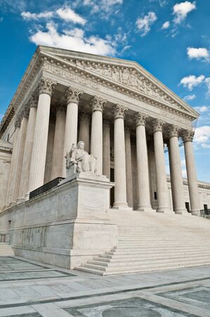 architectural feature: The United States Supreme Court building in Washington DC.