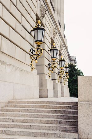 architectural feature: Gold leaf plated lanterns from the EPA building in Washington DC