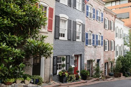 Townhouses in historic Georgetown in Washington DC. photo