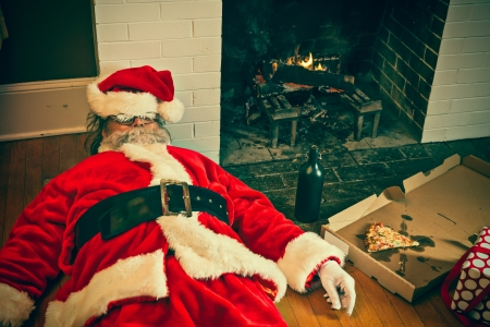 Santa partied too hard at this house. Archivio Fotografico