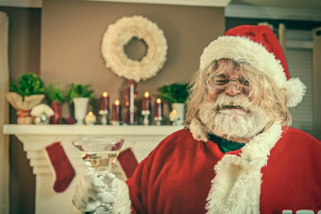 drunk party: This Santa just wants to party.