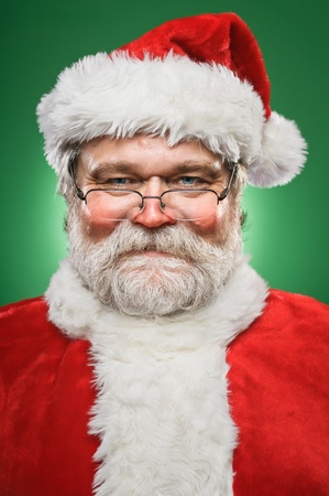 A happy, smiling Santa Claus.