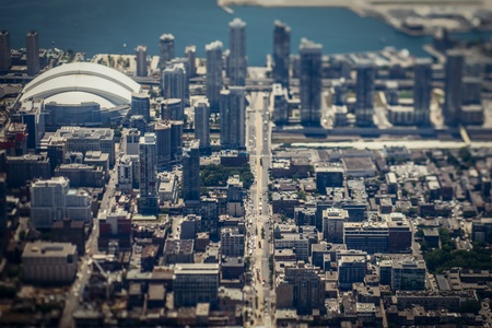 An aerial view of the city of Toronto