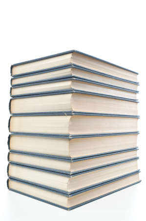 neatly stacked: Neatly stacked books