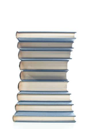 neatly: Neatly stacked books