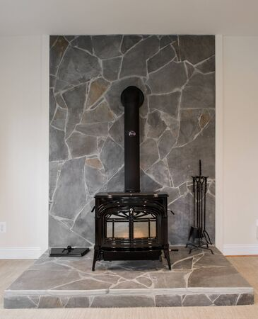 A classic method of home heating, woodburning stove