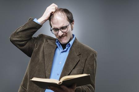 scratching head: Confused Professor