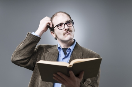 scratching head: Thinking Professor