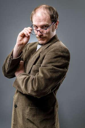 book jacket: Nerd Looking Over His Glasses