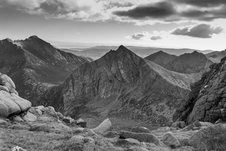 Mountain called Cr Mhr on the Isle of Arran in Scotland. It's a corbett whose name means the big comb.