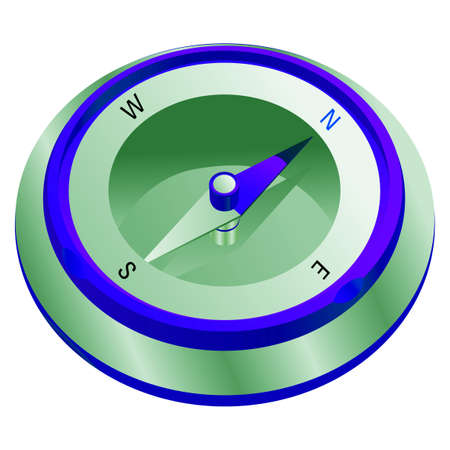 vector lines: Compass illustration in vector lines