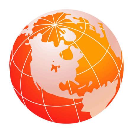 red world globe Stock Photo - 2273399