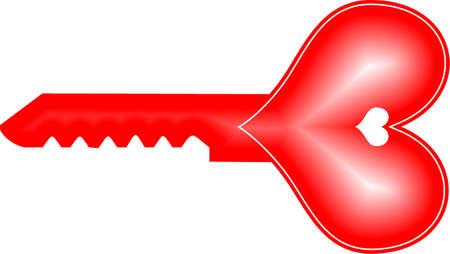 key and heart illustration illustration