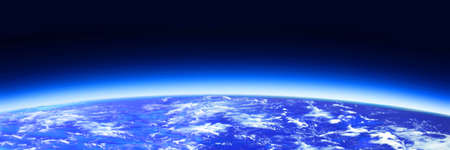 dark blue world globe en ruimte Stockfoto