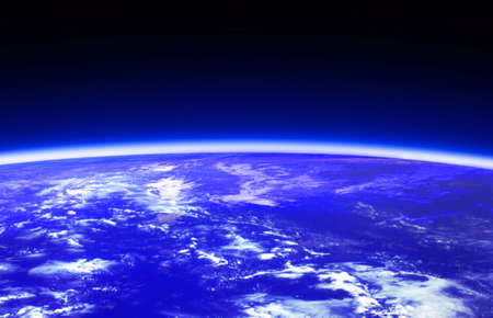dark blue world globe and space photo
