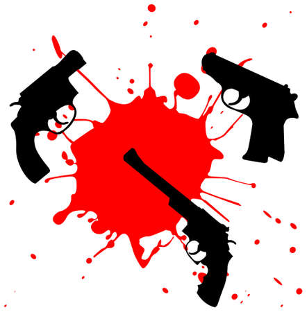 murder concept - weapon and blood
