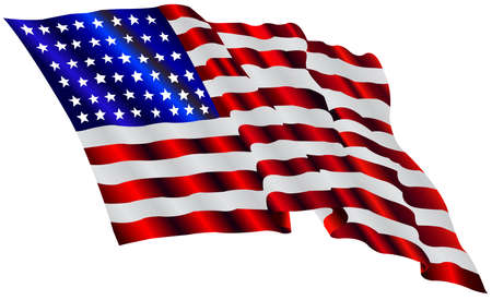 president of the usa: american flag Illustration