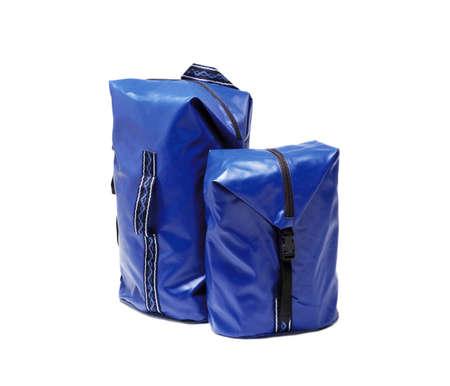 valise: two dark blue valise