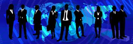commune: blue World Web Banner. Communication business header banner