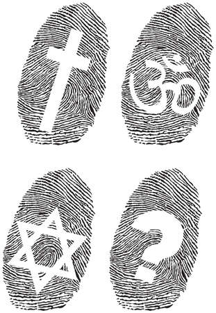 fingermark: official religion and fingerprint
