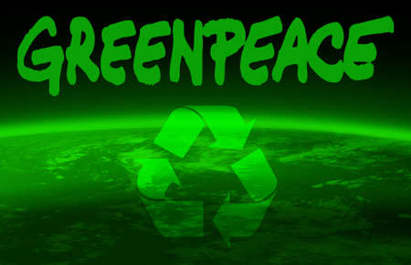 wellness environment: greenpeace and world globe