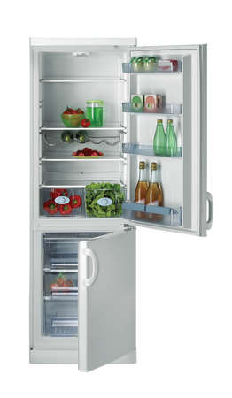 refrigerator isolated on white photo