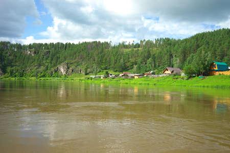 chelyabinsk: Rock wall on the river Ai, Chelyabinsk region, Bashkiria.