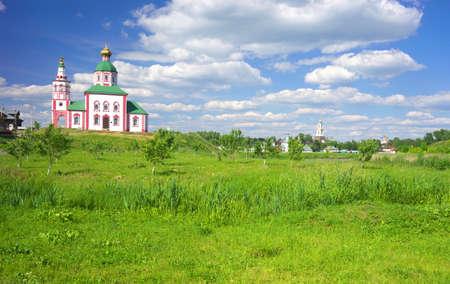 vladimir: Gold ring of Russia. Vladimir region, Suzdal Stock Photo