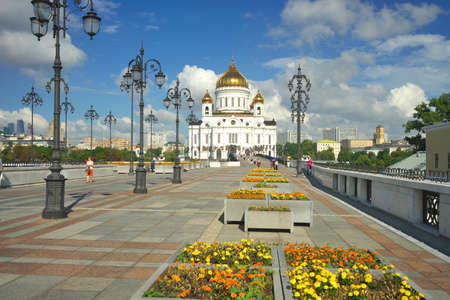savior: MOSCOW, Russia - The view of the Christ the Savior Cathedral.