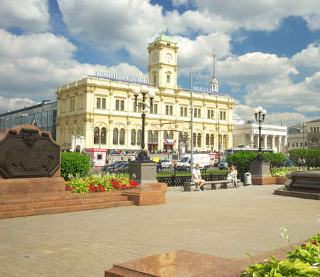 leningrad: Moscow, Russia, view on the Leningrad station