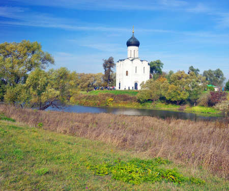 Church of the Intercession on the Nerl. Russia, the village Bogolyubovo.Gold ring of Russia.