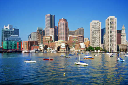 boston skyline: Boston Skyline on a Gorgeous Day