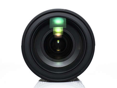 front view: Front view of a camera lens Stock Photo