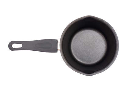 nonstick: Overview of a non-stick saucepan isolated on white Stock Photo