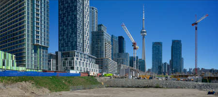 high rise: Panorama view of the developing Toronto Editorial