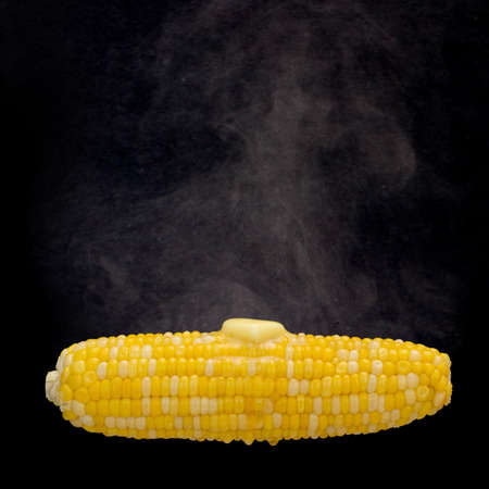 cob: Steaming corn with melting butter